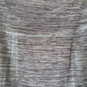 Nally & Millie Skirts - Reversible black/black and grey maxi skirt size XL